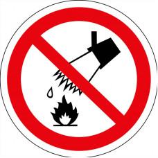 P04 Запрещается тушить водой (на плёнке)