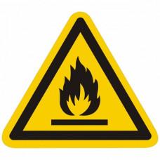 W01 Пожароопасно. Легковоспламеняющиеся вещества (на плёнке)
