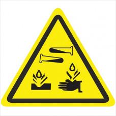 W04 Опасно. Едкие и коррозионные вещества (на плёнке)
