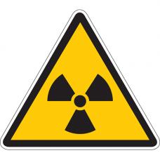W05 Опасно. Радиоактивные вещества или ионизирующее излучение (на плёнке)