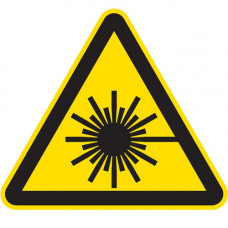 W10 Опасно. Лазерное излучение (на плёнке)