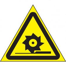 W22 Осторожно. Режуще валы (на плёнке)