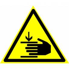 W27 Осторожно. Возможно травмирование рук (на пластике)