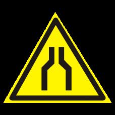 W30 Осторожно. Сужение проезда (прохода) (на пластике)